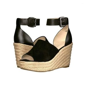 NIB Marc Fisher Wedge Open Toe Espadrille Sandals